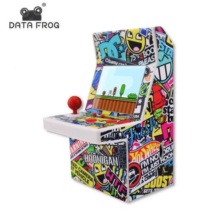 Data Frog Mini Portable Arcade Machine Classical Retro Handheld Video Game Console Built-in 108 Arcade Games
