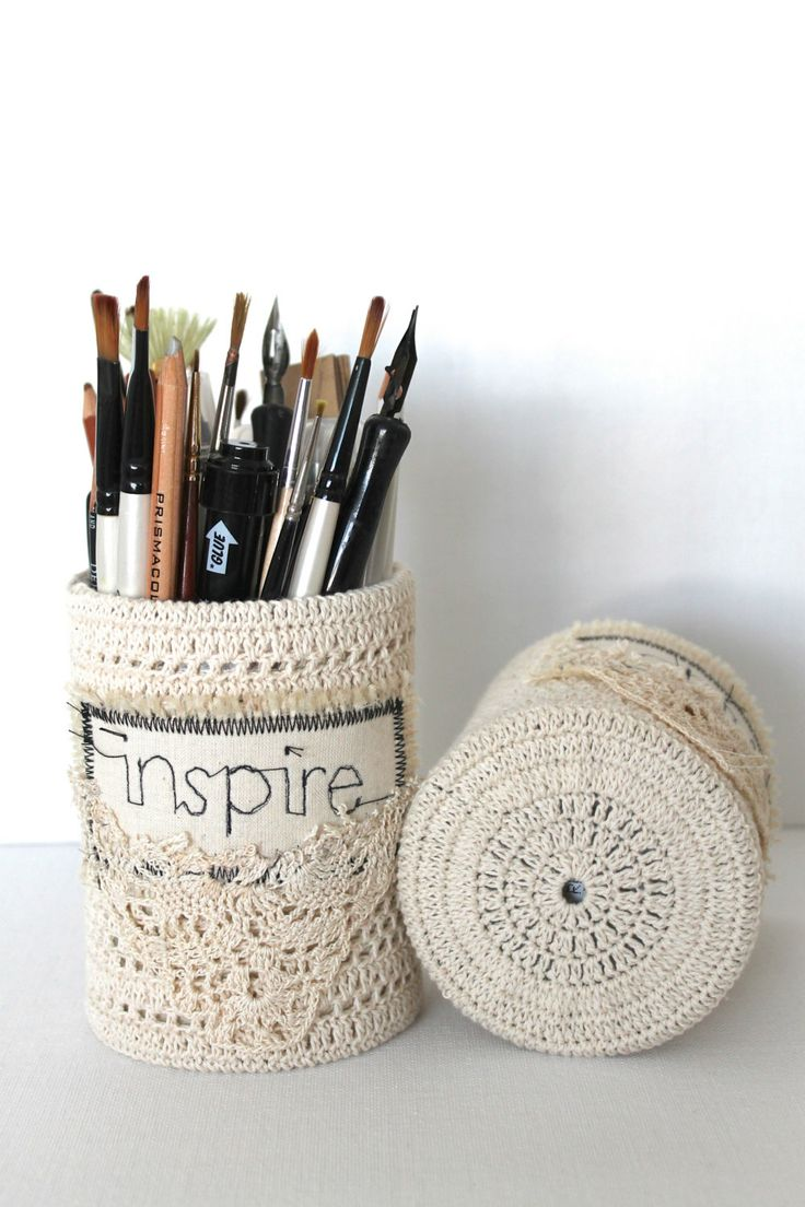 Pencil Holder Handmade Crochet Organizers Up by ...