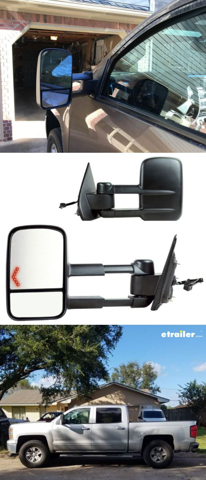 These Extendable Towing Mirrors Will Replace The Factory Sideview On Your Vehicle There S No Need For Any Snap Or That You