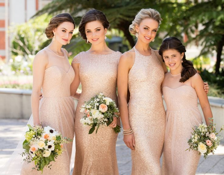 A style both romantic and glamorous, this tulle and sequin bridesmaid gown is the perfect addition to any wedding. Available in a variety of shades, it could be the sweetest addition to any bridal party from garden chic to evening glamour.