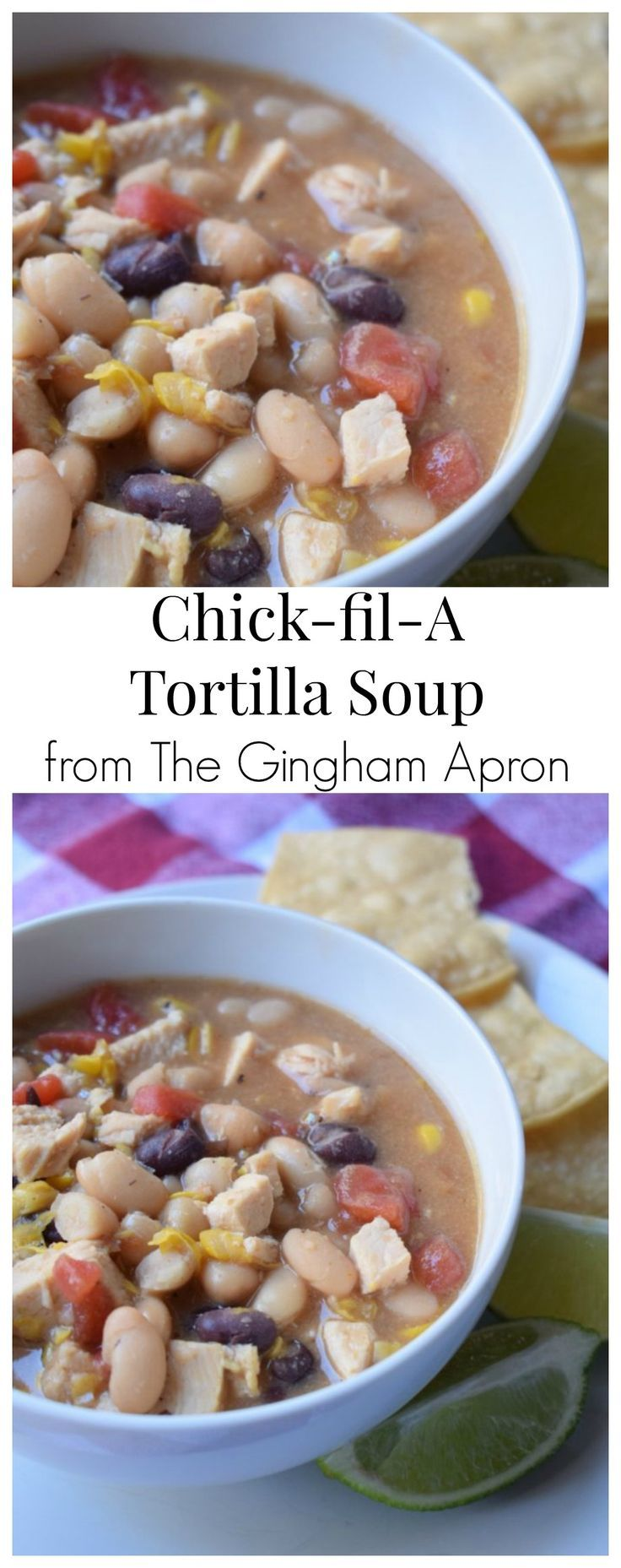 Copy cat Chick-fil-A tortilla soup- This soup tastes exactly like the restaurant's. Best of all, it is super healthy! So delicious! #chickfila #chickensoup #copycat