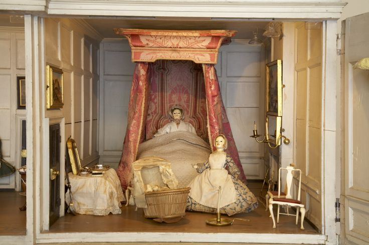 Close-up of the Principal Bedroom in the Uppark dolls house. ©National Trust Images/Nadia Mackenzie