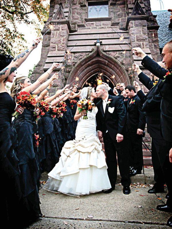 beach wedding in new jersey%0A A Spooky Halloween Wedding
