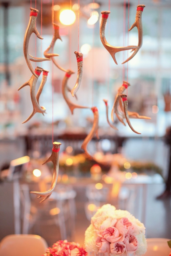 Antler decor from Carter and Cook Event Co.