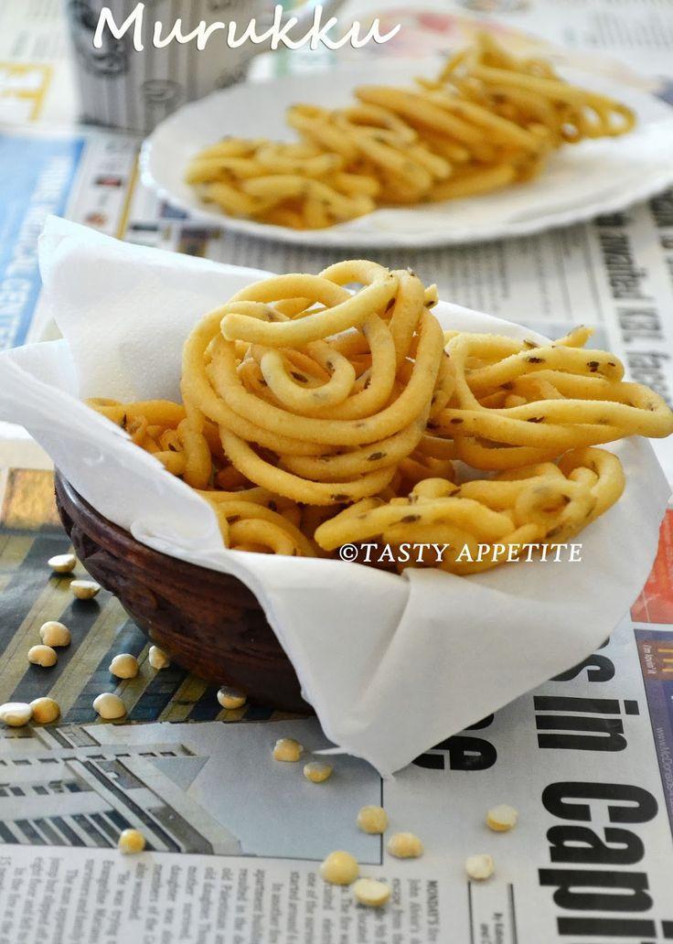 Pottukadalai Murukku / Crispy Murukku Recipe / Fried gram Murukku / Easy Diwali Snacks : | Tasty Appetite