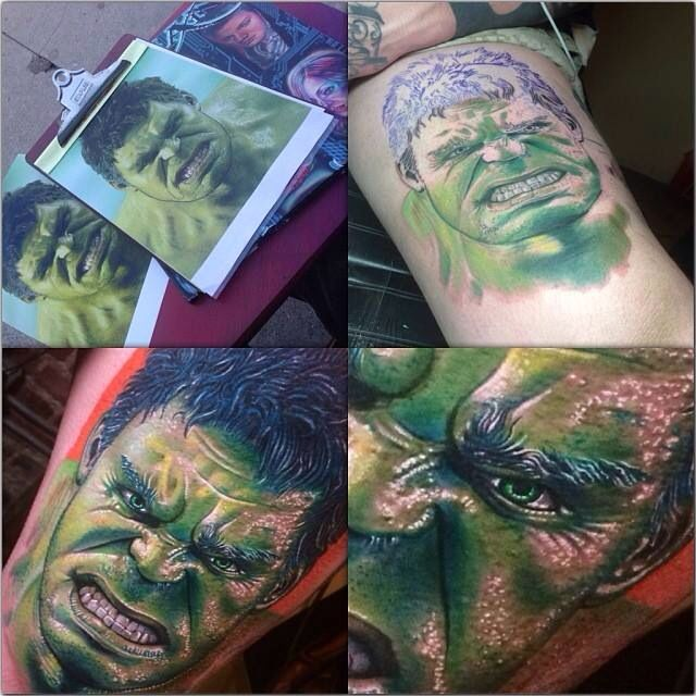 incredible hulk tattoos by roman tattoo inspiration pinterest roman incredible tattoos. Black Bedroom Furniture Sets. Home Design Ideas