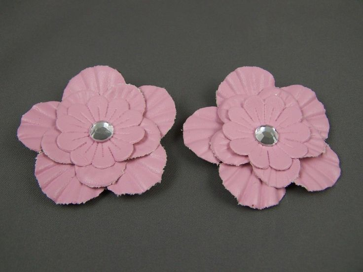 4.50$  Watch here - http://viaum.justgood.pw/vig/item.php?t=x53sfol57490 - Light Pink faux leather flower barrette hair clip gator set pack of 2 4.50$