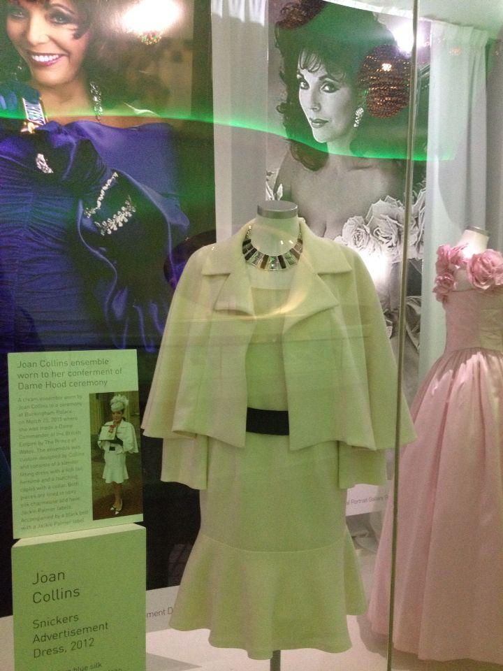 Joan Collins- iconic dress and jacket at Newbridge Silver , Kildare, Ireland