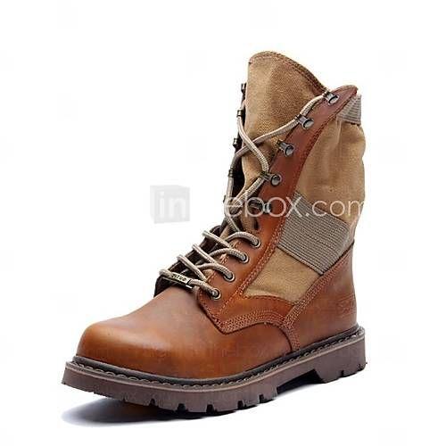 Zapatos de Hombre Botas Exterior / Oficina y Trabajo / Casual / Deporte / Fiesta y Noche Ante Negro / Marrón 2016 – $59.99