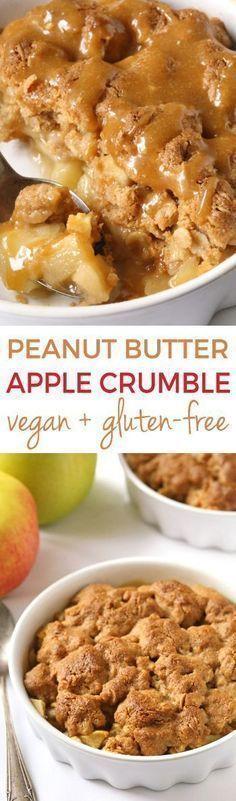 Peanut Butter Apple Crumble {vegan, gluten-free, d…