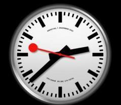 Swiss Railway Clock Screenshot