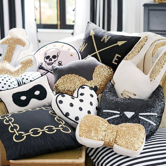 the emily meritt glitter critter pillows pbteen - Niedliche Noble Schlafzimmerideen