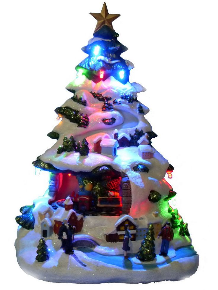 29 best vintage ceramic christmas trees images on for Light up christmas decorations