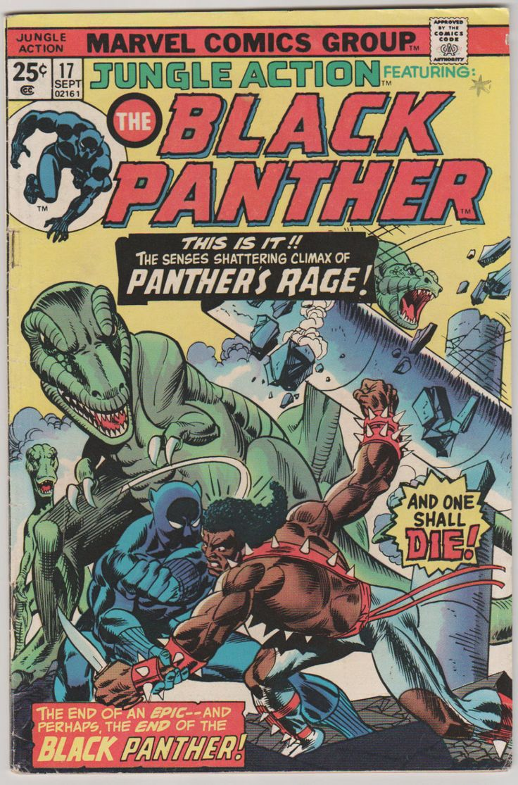 Jungle Action (featuring Black Panther): Vol 2, 17 Bronze Age Comic Book (Mark Jeweler's Insert).  VF-. Sept 1975.  Marvel Comics #blackpanther #comicsforsale