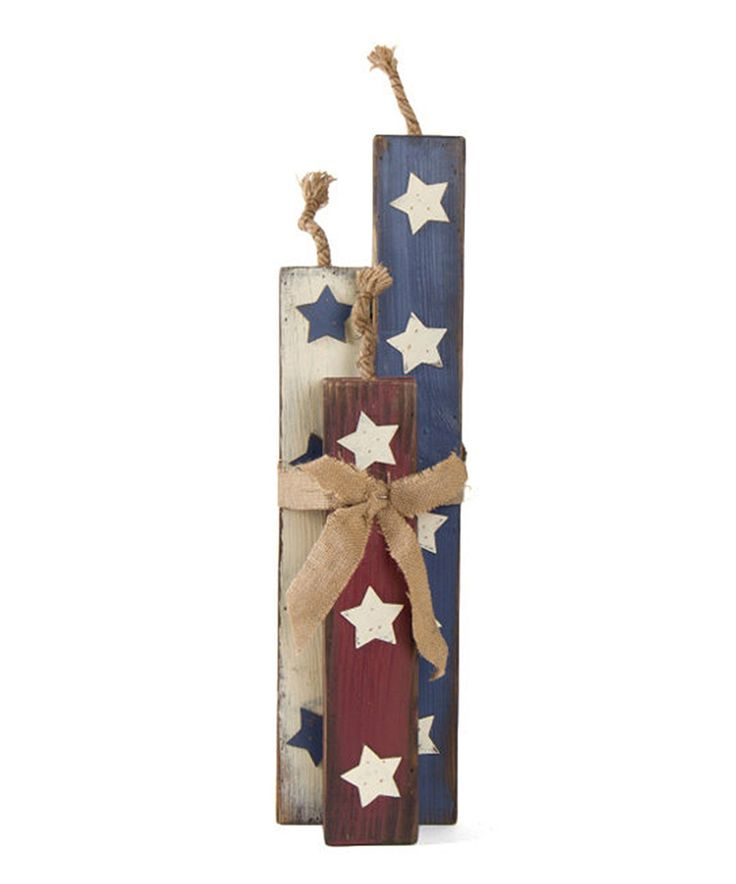 Take a look at this Patriotic Stars Wooden Fireworks Décor today!