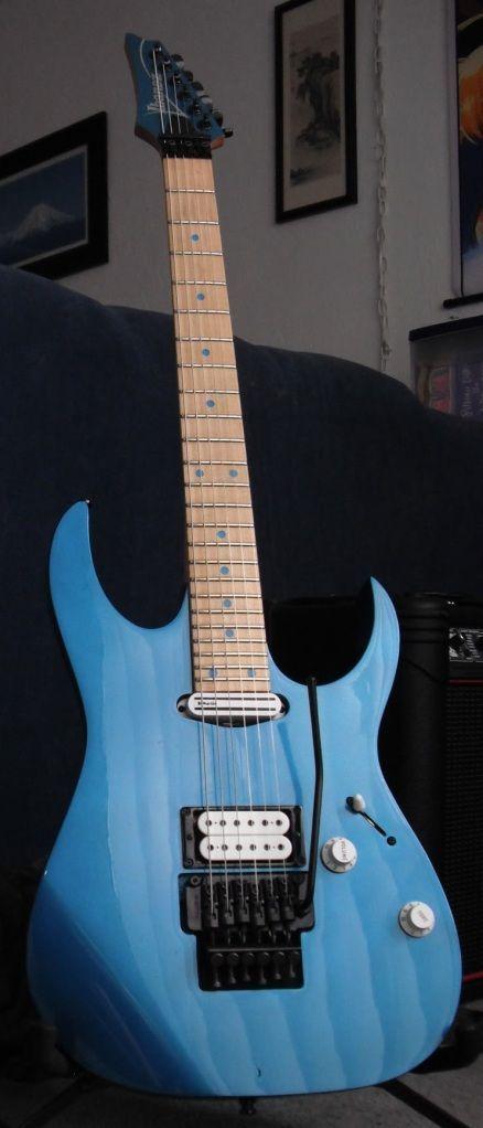La simple mais très efficace Ibanez RG565. Retrouvez des cours de guitare d'un nouveau genre sur MyMusicTeacher.fr