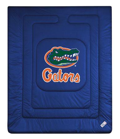 Florida Gators Locker Room Comforter, starting at  $72.95 at MySportsDecor.com. Great for your bedroom, a kid's bedroom, or a dorm room. http://www.mysportsdecor.com/florida-gators-locker-room-comforter.html... #floridagators #floridagatorsbedding #floridagatorslockerroomcomforter