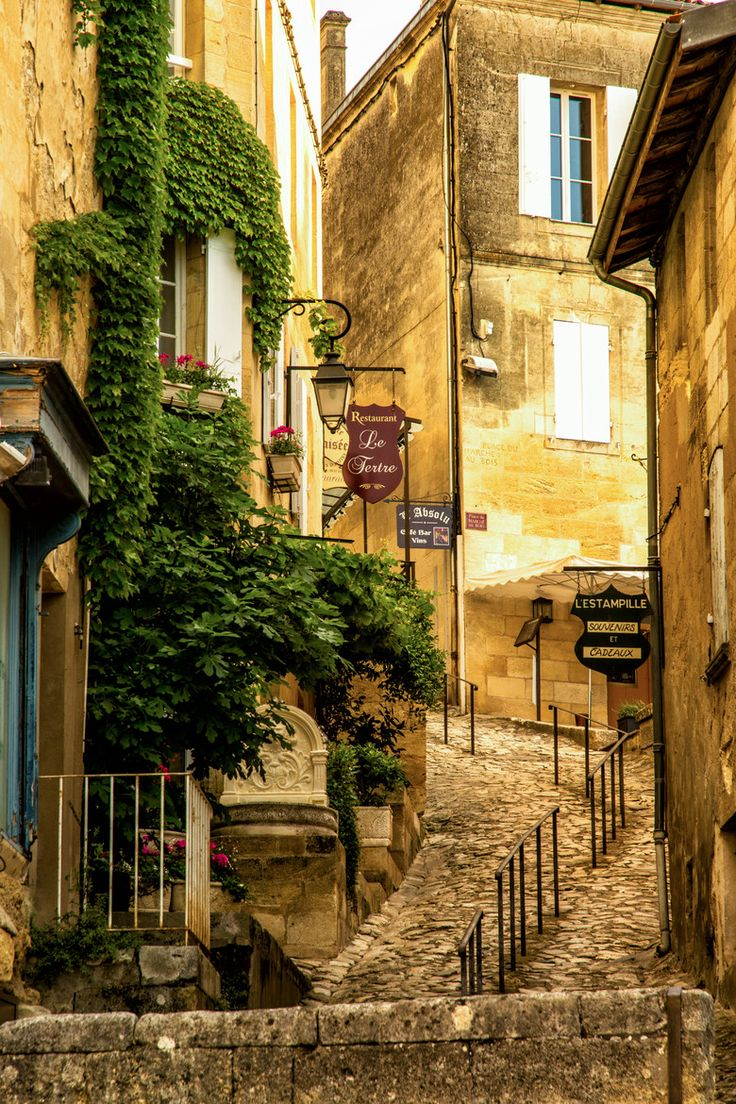 Take a walk on the medieval streets of Saint Emilion in France.