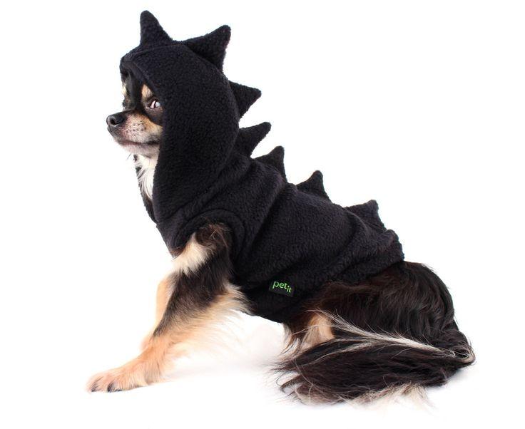 Hond kostuum zwart dinosaurus hond Hoodie door PetitDogApparel op Etsy https://www.etsy.com/nl/listing/243920240/hond-kostuum-zwart-dinosaurus-hond
