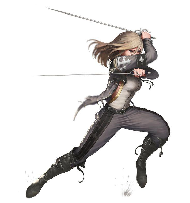 ArtStation - sword girl 2, SYAR
