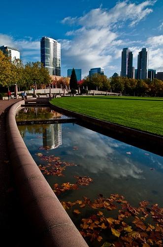 Downtown Park, Bellevue WA by Big Bean Photos, via Flickr    Live in Bellevue- http://www.bluefernproperties.com/listings/areas/31196/
