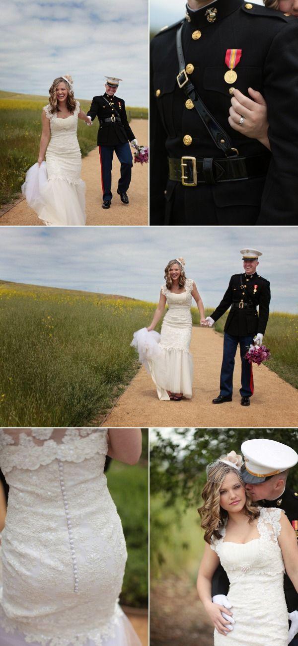 Military Bridal Photo Shoot by Jasmine Star Photography | The Wedding Story