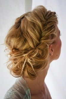 Tossled updo