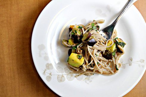 Soba Noodles with Eggplant and Mango Recipe