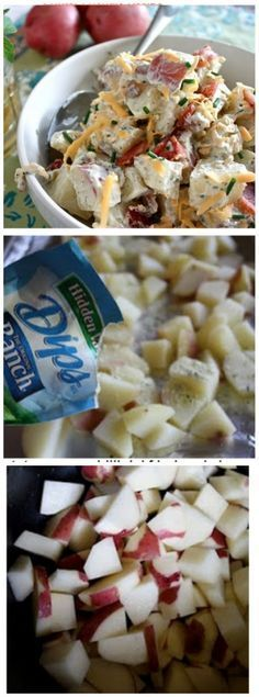 Loaded Bacon Ranch Potato Salad - www.countrycleaver.com