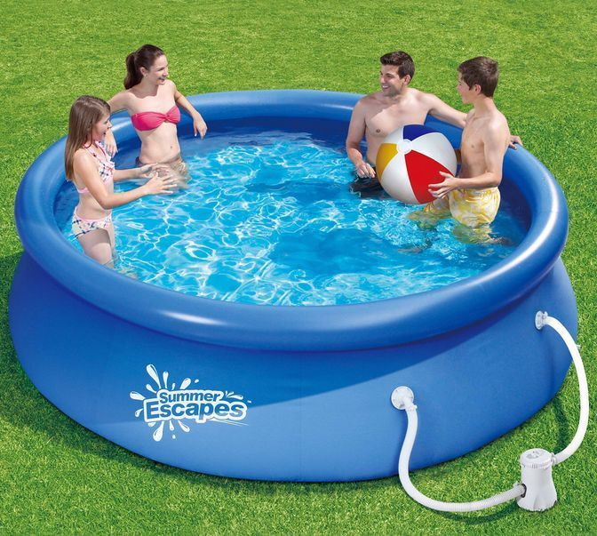 Above Ground Swimming Pool Inflatable Pools Liner Covers Pump Paddling Kits Set