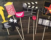 Items similar to Oscar party props/ movie theme birthday props / oscar props/ academy award/ hollywood party/ photobooth props/ oscar party decorations on Etsy