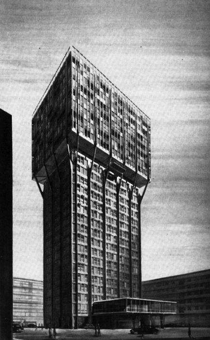 BBPR, Torre Velasca, Milan, Italy, 1956-1958