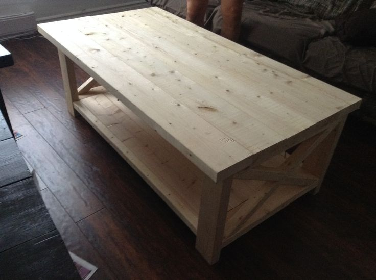 We built our own coffee table.