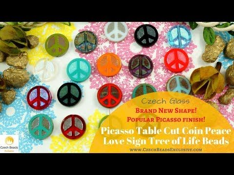 Video! PEACE LOVE SIGN Picasso Table Cut CoinTree Of Life Czech Glass Beads     #dawanda #dawanda_de #dawandashop #etsy #etsyshop #etsystore #etsyfinds #etsyseller #amazon #amazondeals #alittlemercerie #picasso #picassobeads #coin #peace #peacelove #peacejewelry #treeoflife #treeoflife_love #czechbeads #glassbeads #czechglassbeads #czechglassjewelry