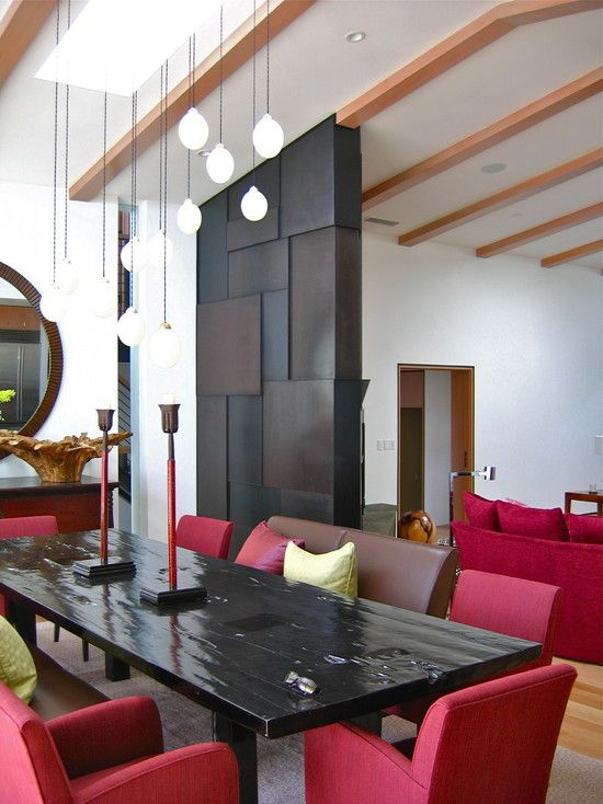 Stylish partition wall common areas living room pinterest for Living room partition wall designs