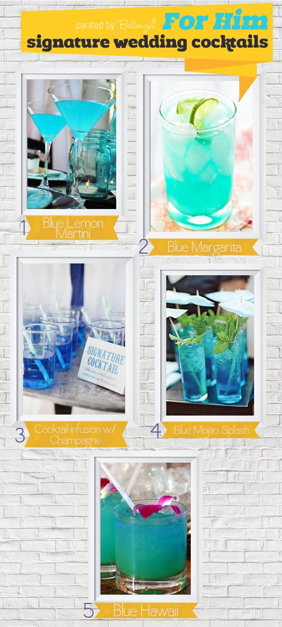 For Him! Ideas for His and Hers Signature Cocktail Ideas for Summer Weddings. #signatureweddingcocktails #signature drinks