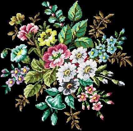 Pretty blooms. Cross stitch pattern. Instant by rolanddesigns, $4.00