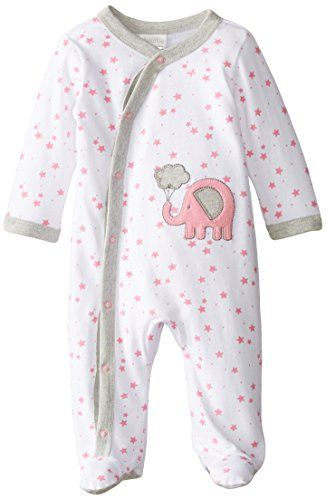 """Absorba Baby Girls' """"Cosmic Elephant"""" Footed Coverall - white/pink, 3 - 6 months Give baby an adorable look for sleep and play with this Absorba coverall! Made of 100% cotton jersey, it features easy-change snaps from Read more http://shopkids.ca/baby-girls/absorba-baby-girls-cosmic-elephant-footed-coverall-whitepink-3-6-months"""
