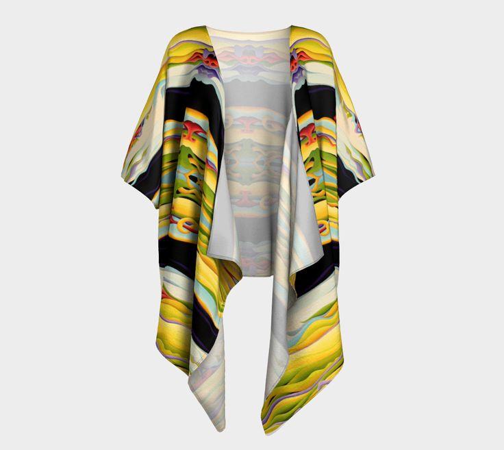 "Draped+Kimono+""Pathways+To+Peaceful+Possibilities""+by+Amy+Ferrari"