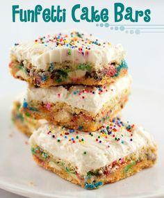 Funfetti Cake Batter Bars recipe