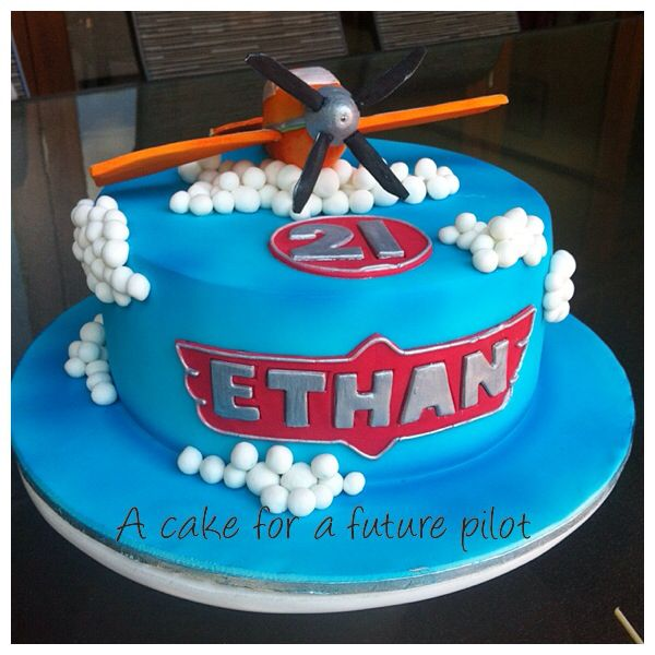 My Planes inspired birthday cake for a future airline pilot!