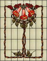 Traditional 2-015 Stained Glass Window Film