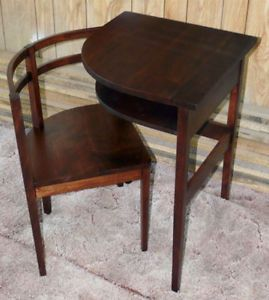 walnut and mahogany. c.1940 almost antique telephone table