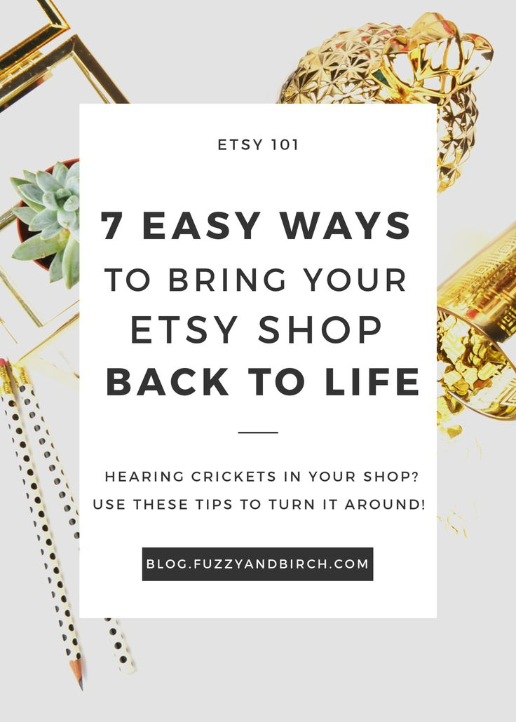 It happens to the best of us. Reduce the flail factor: Learn how to bring your Etsy shop back to life with these 7 easy tricks.