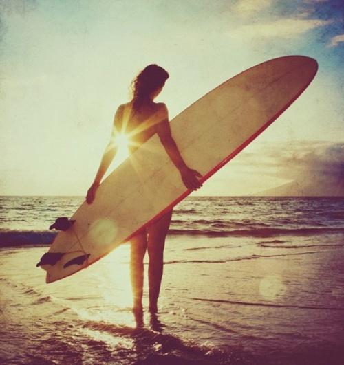 Sunset surf.