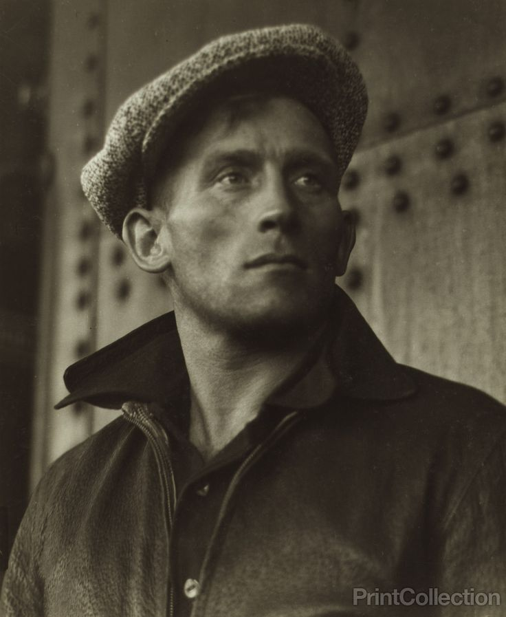 Young Man Wearing Cap, by Dorothea Lange. Photographed in May of 1935. First rural rehabilitation colonists, Northern Minnesota to Matanuska Valley, Alaska. Sailed from San Francisco, May 1st, 1935.