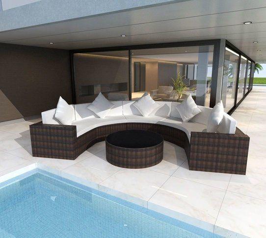 best 25+ polyrattan lounge set ideas on pinterest, Möbel