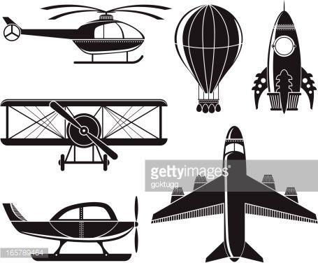 чернобелый вектор самолет детский - Поиск в Google