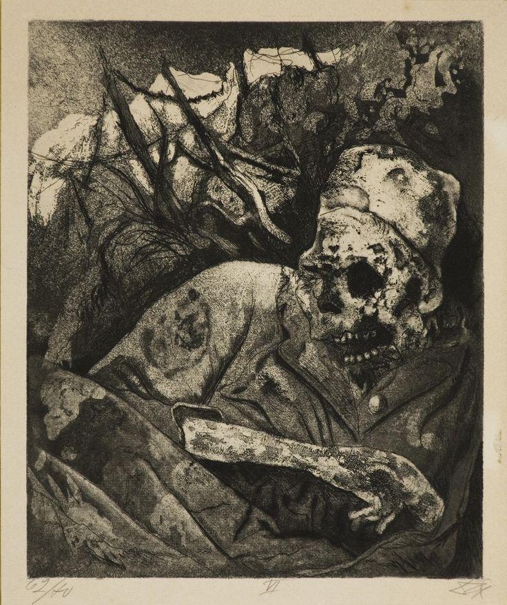Otto Dix   Cadavere sul filo spinato Fiandre (Der Krieg #6)   1924   Acquaforte   cm30x24,3