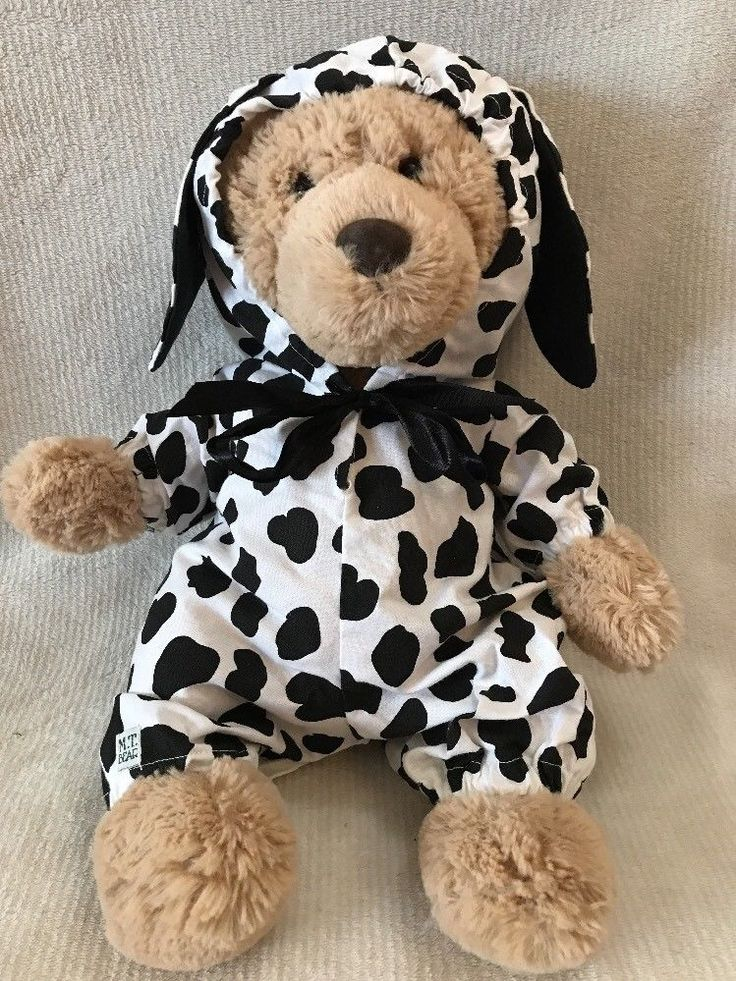 "Black And White Cow Costume For 15-17"" Plush Animal/ Teddy Bears Lot of 30  